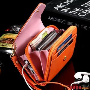 Bolsa Carteira para Smartphone, dinheiro e cartões