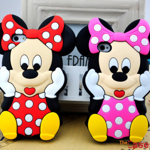 Capa Minnie Mouse 3D iPhone 4/4S 5/5S e 5C