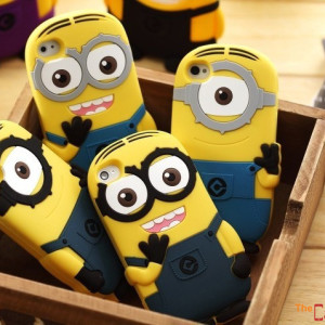 Capa Minions 3D iPhone 4 5 5C 6