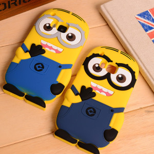 Capa Minions 3D silicone HTC One M9, M8, M7