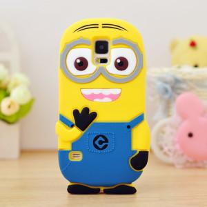 Capa Minions 3D silicone Samsung S5