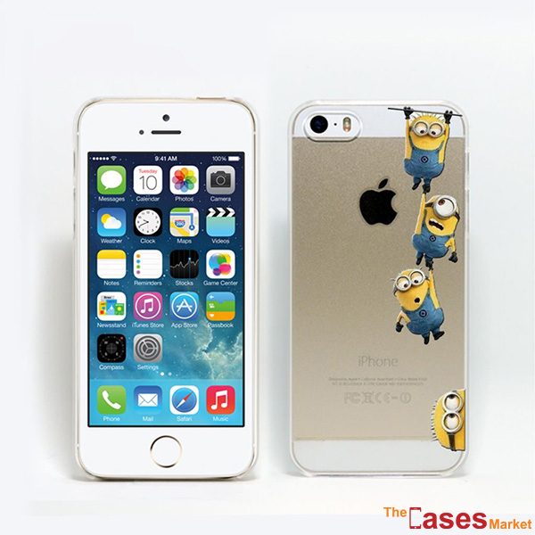 Capa minions de plstico transparente iphone 5 e 5s the cases market capa dos minions para iphone 5 e 5s reheart Images