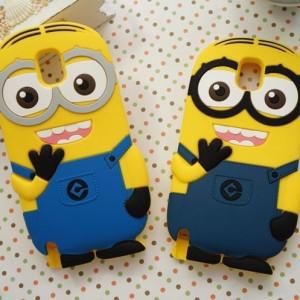 Capa Minions 3D silicone Samsung E5, E7