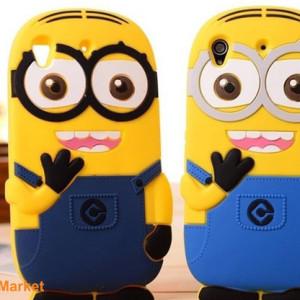 Capa Minions 3D silicone Xperia