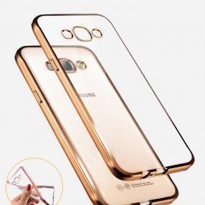Capa dourada transparente Samsung