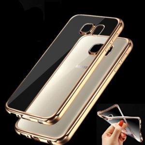 Capa dourada e transparente Samsung