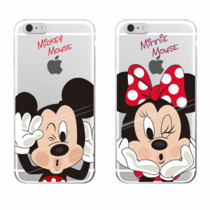 capa transparente minie mickey iphone