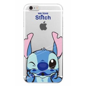 capa transparente stitch iphone