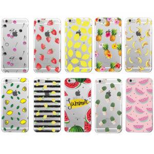 capa silicone frutas iphone