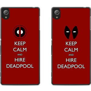 capa Keep Calm and Hire Deadpool xperia
