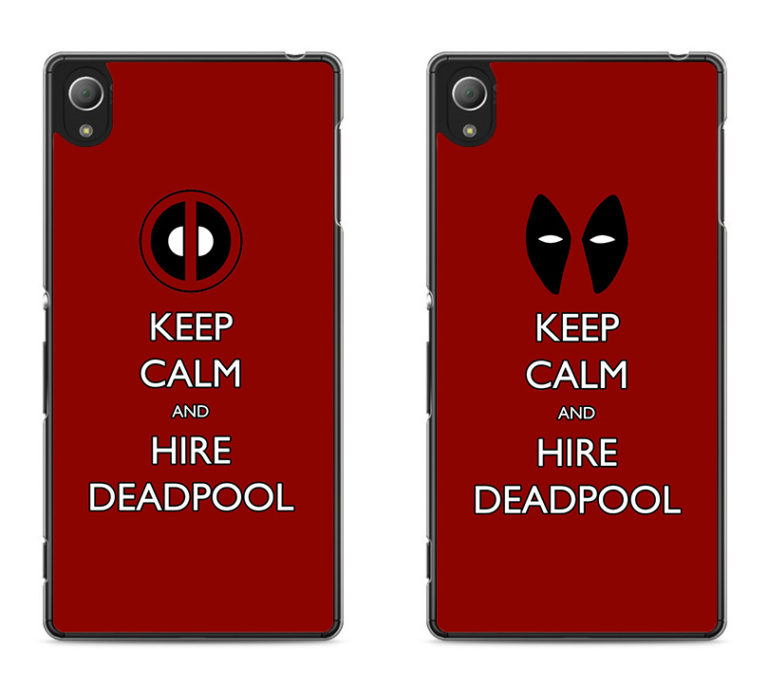 capa Keep Calm and Hire Deadpool xperia
