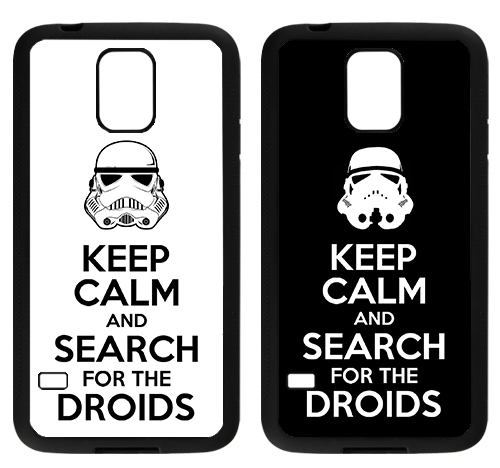 capa keep calm and search for the droids Samsung
