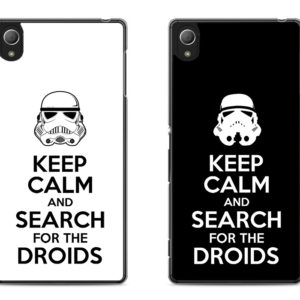 capa Keep Calm and Search for the Droids Xperia