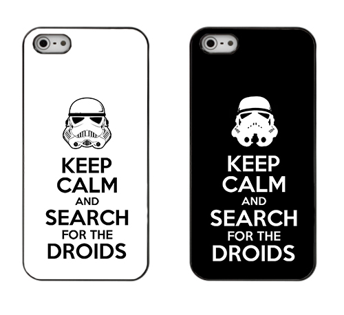 capa Keep Calm and Search for the Droids iPhone