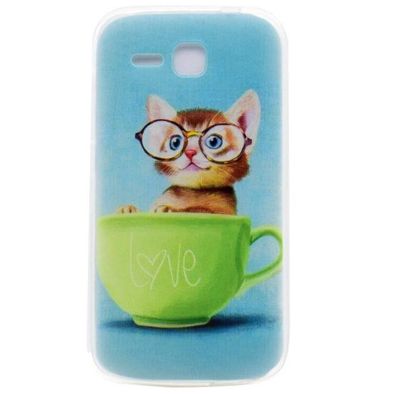 capa silicone gato huawei y600