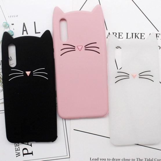 capa gato silicone huawei p20 lite plus