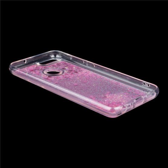 capa silicone liquido brilhantes huawei p smart
