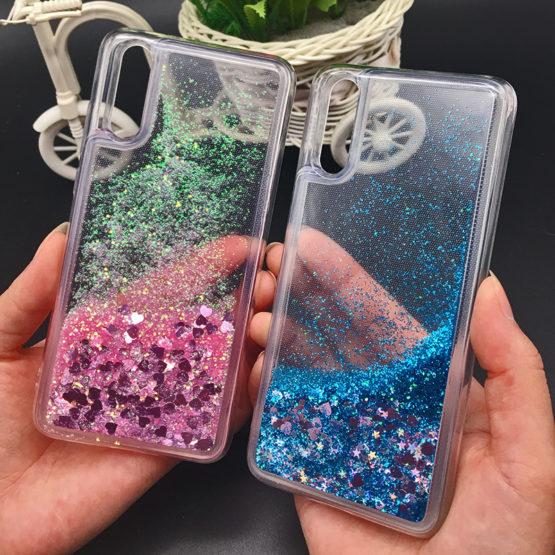 capa silicone transparente liquido brilhantes huawei p20 lite