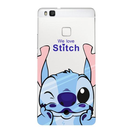 capa stitch silicone transparente huawei p smart
