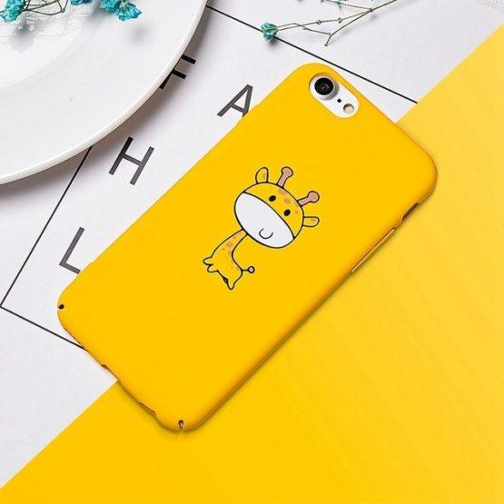 capa plastico girafa amarela iphone