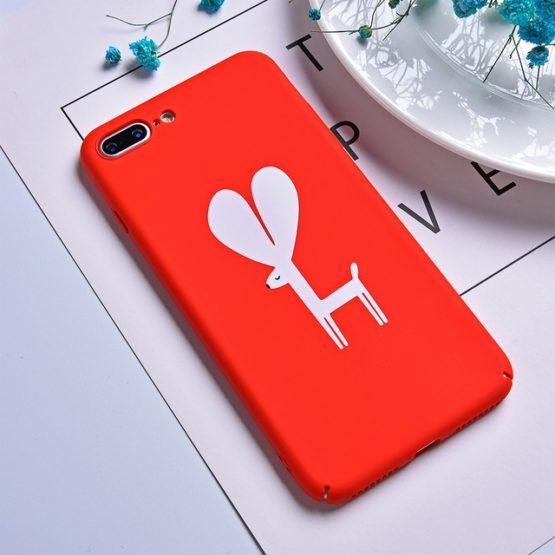 capa platico vermelha animais iphone