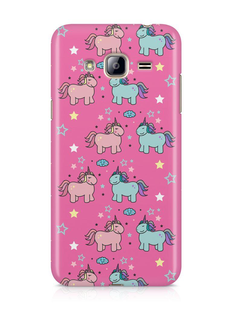 capa rosa unicornio samsung j3 2016