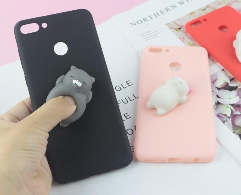 capa silicone gato 3D Huawei P Smart