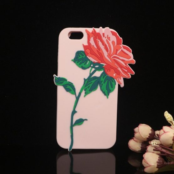 capa silicone rosa 3d iphone