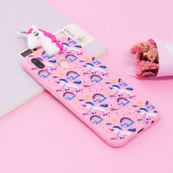 capa silicone unicornio huawei p20 lite