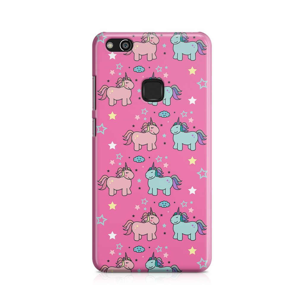 Capa rosa unicornios huawei p10 lite