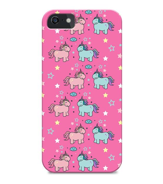 capa unicornios rosa iPhone