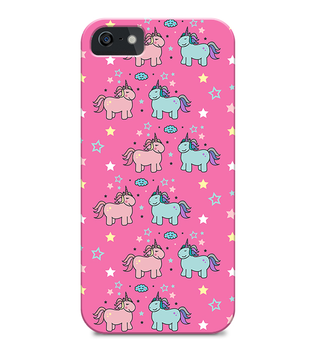 capa unicornios rosa iPhone
