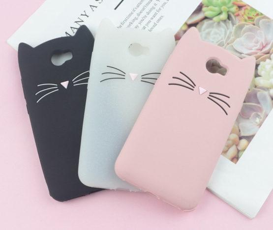 capa gato silicone huawei y5 II