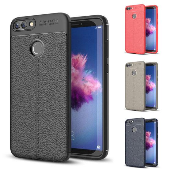 Capa silicone para telemóvel Huawei Y5 2018 Elegante capa totalmente em silicone contudo o seu acabamento rugoso imita pele