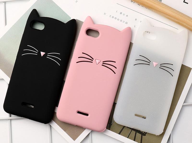 capa gato silicone xiaomi redmi 6a 6 pro