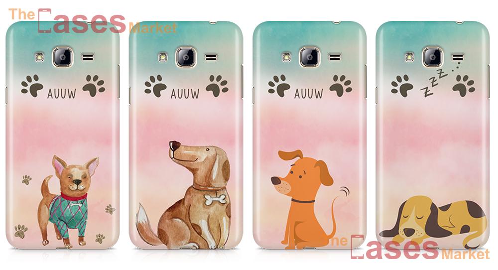 capas silicone cães cachorros telemoveis samsung j3 j4 j7
