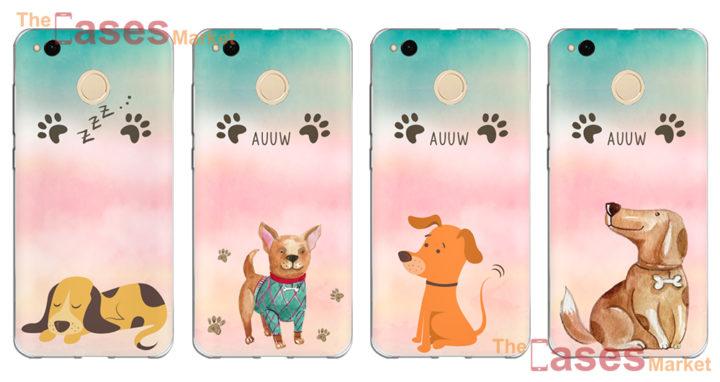 capas silicone cachorrinhos telemoveis xiaomi