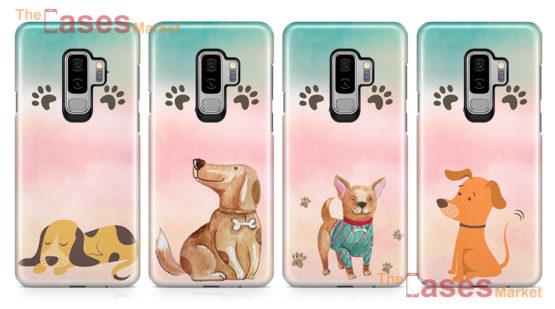 capas silicone caes cachorrinhos telemoveis samsung s9 plus