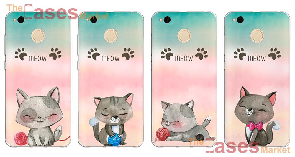 capas silicone gatos gatinhos telemóveis xiaomi