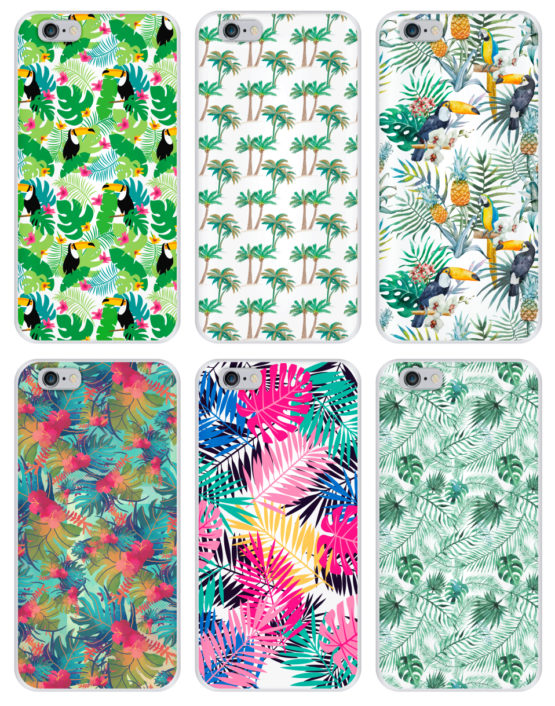 capas silicone tropical iPhone