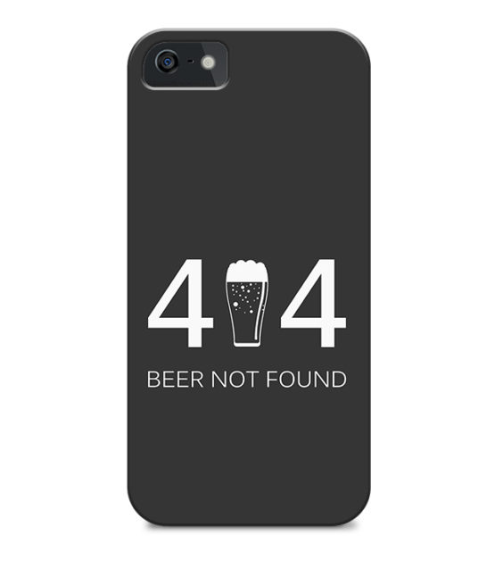capa iphone 404 beer not found