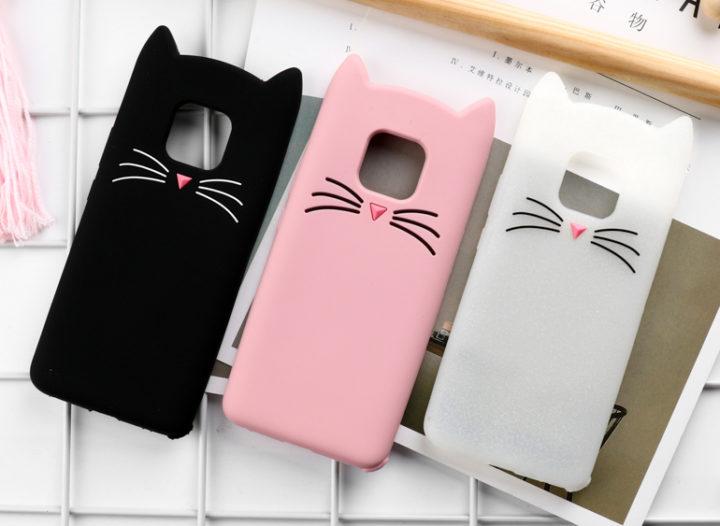 capa silicone gato huawei mate 20 pro