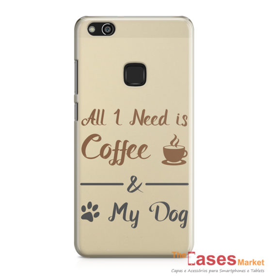 Capa telemovel Huawei all i need is coffee and my dog