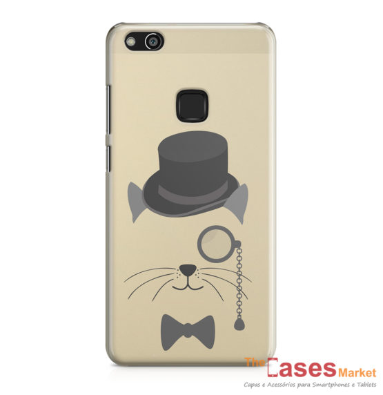 Capa telemovel Huawei gentleman cat transparente