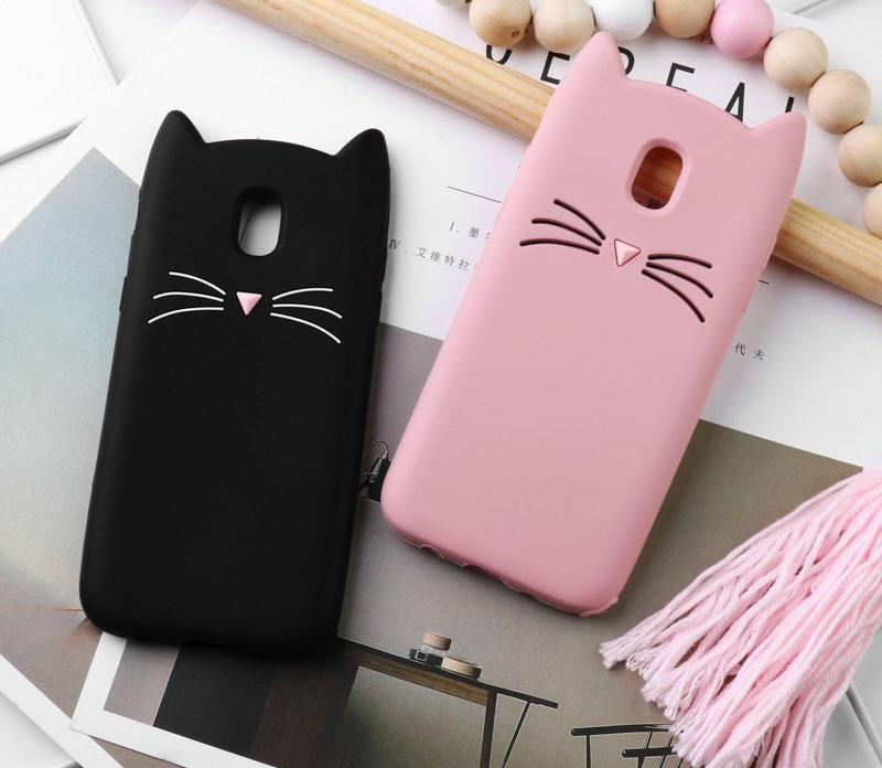 capa gato silicone samsung j6 2018