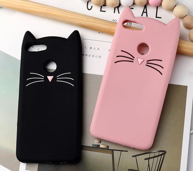 capa gato silicone telemovel huawei y6 2018