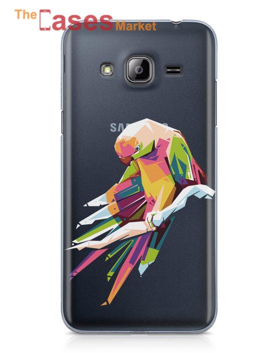 capa telemovel samsung J3 papagaio