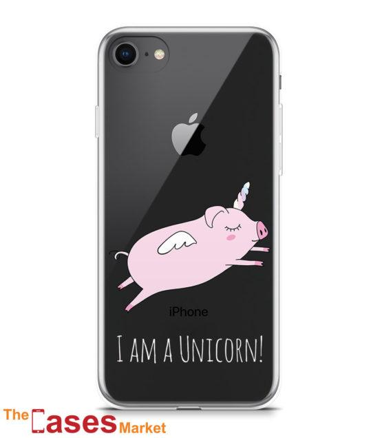 capa transparente iphone unicornio 4 (branco)