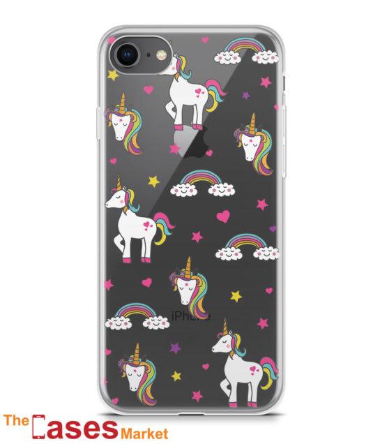 capa transparente iphone unicornios 2