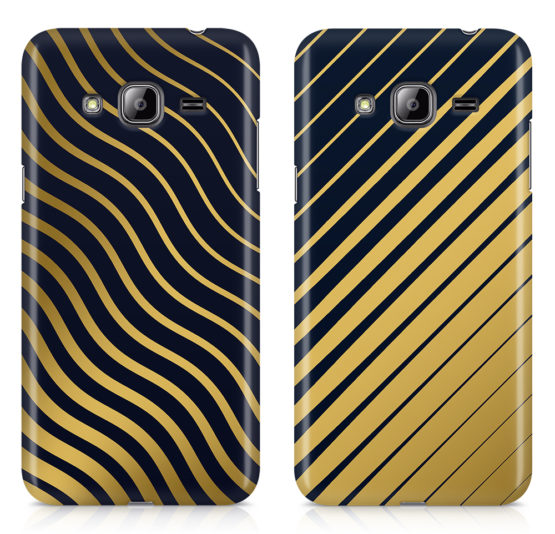 capas riscas douradas abstractas telemovel samsung j3 2016